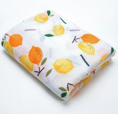 Muslin Swaddle - Orange + Lemon