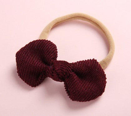 Small Cord Bow - Plum - Little Boo Store