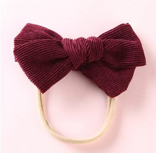 Large Cord Bow - Plum - Little Boo Store