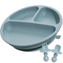 Load image into Gallery viewer, Silicone Suction Plate & Cutlery Set