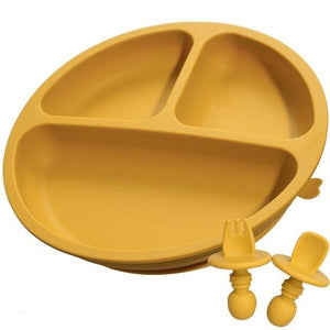 Silicone Suction Plate & Cutlery Set