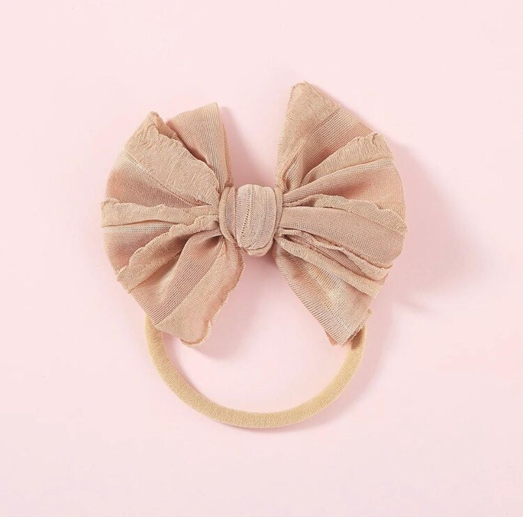 VINTAGE SKINNY BOW | LATTE - Little Boo Store