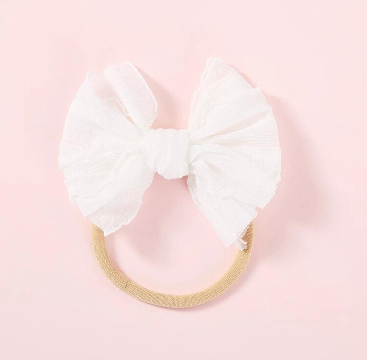VINTAGE SKINNY BOW | WHITE - Little Boo Store