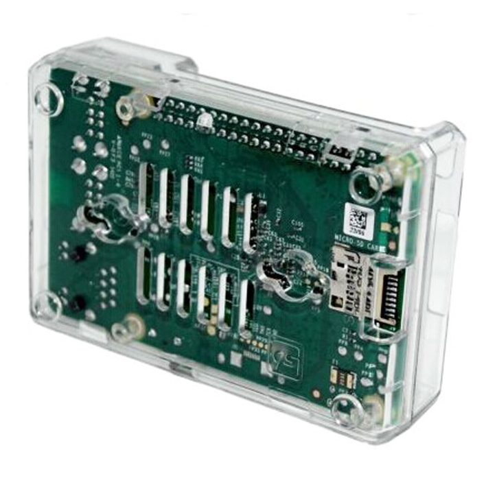 Officiell Raspberry Pi Transparent Skal för Pi 2, Pi 3, Pi B / B +