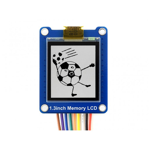 1,3 tums Bicolor LCD 144x168p  Low Power  Embedded Memory