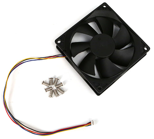 DC Cooling Fan med PWM, Speed Sensor (Tacho) 92x92x25mm