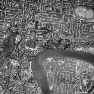 1946 Aerial Photo of Bulimba and surrounding areas