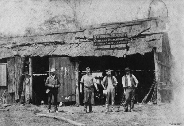 Young and Buckby Blacksmith - Oxley Road, Oxley, 1888
