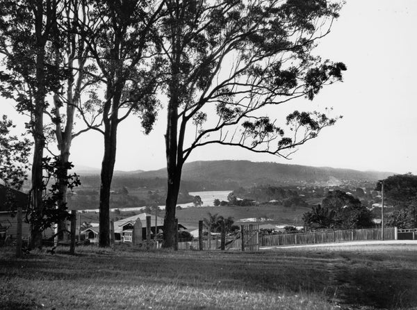 Panoramic view from Francis Lookout, Corinda, across the Brisbane River towards Mt. Coot-tha, 1931