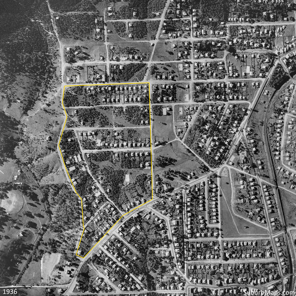 1936 Aerial Photo of Indooroopilly Township