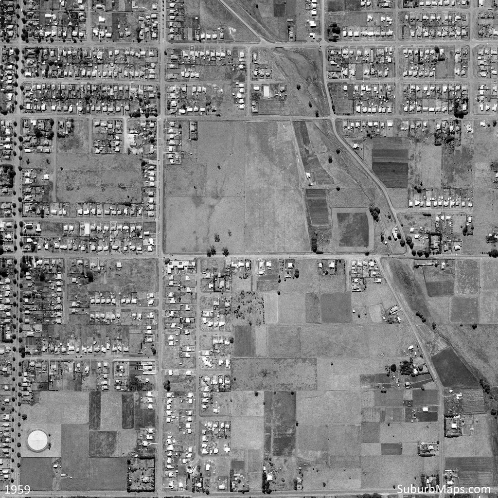 1959 Centenary Heights - Aerial Photo
