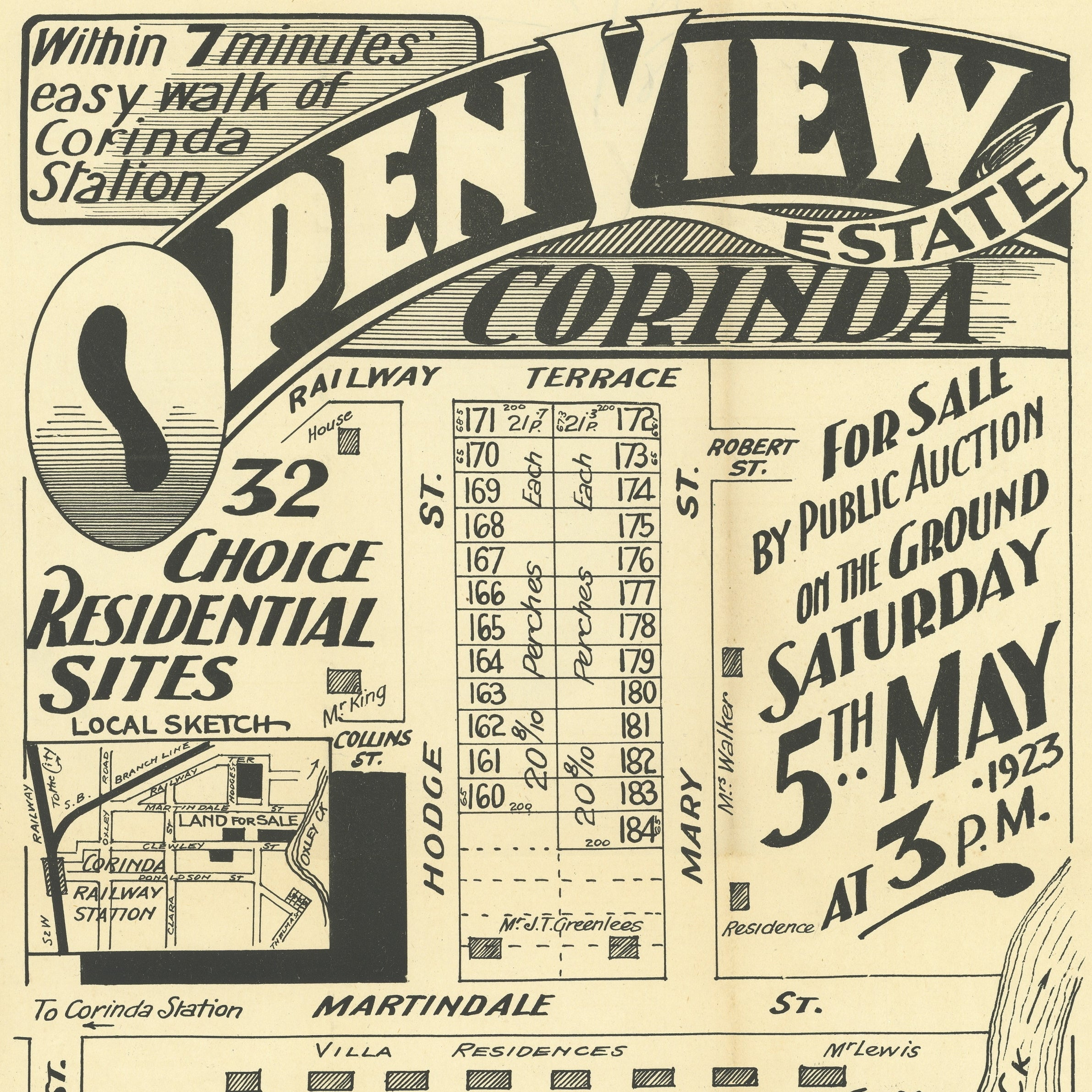1923 Corinda - Open View Estate