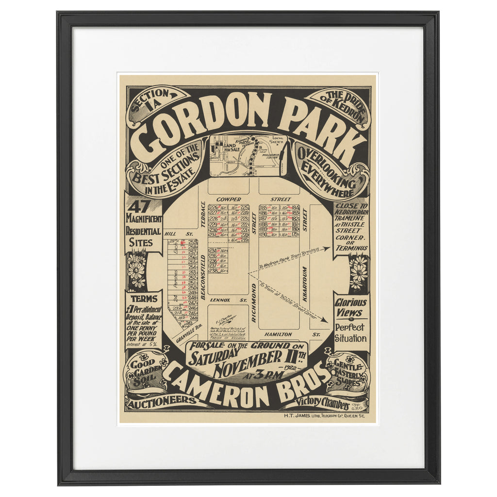 1922 Gordon Park - Gordon Park - Section 1a