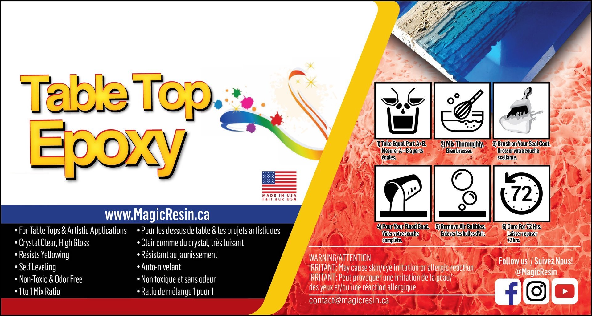 2 Gallon (7 6 L) | Premium Quality Clear Epoxy Resin Kit | Free Express  Shipping