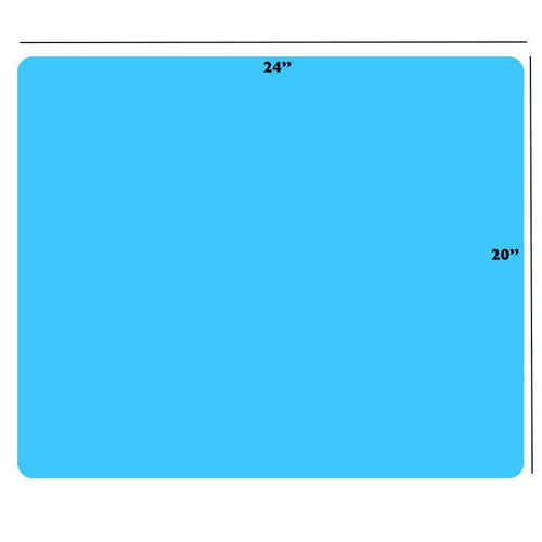 Ultra Large Silicone Mat for Epoxy Resin Nonstick & Heat-Resistant | Blue (20 x 24 inches)
