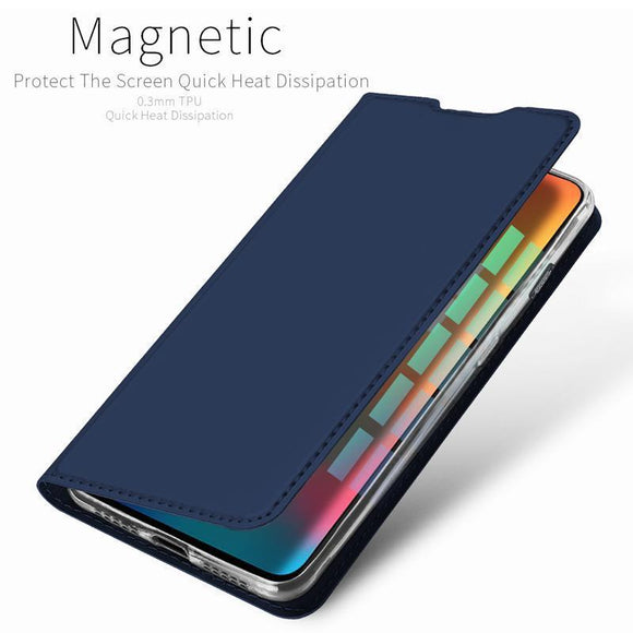 OnePlus 6T Luxury Dux Leather Magnetic Stand Flip Cover
