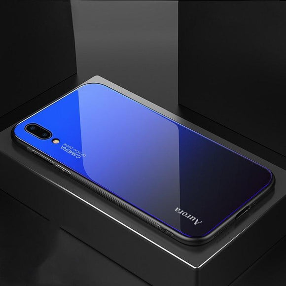 Vivo V11 Pro Aura Gradient Glass Back Silicone Cover