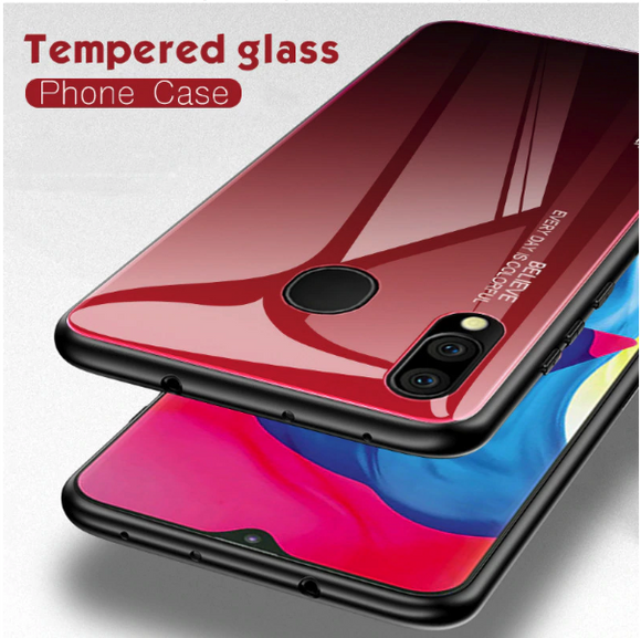Vivo Y93 Aura Gradient Glass Back Silicone Cover