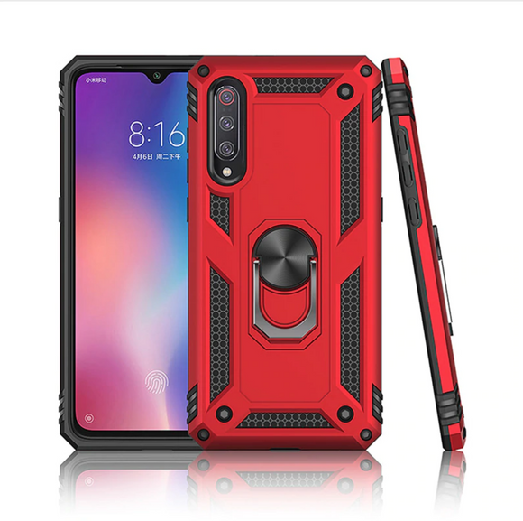 Galaxy A50 Ultra Hybrid Metallic Finger Ring Back Case