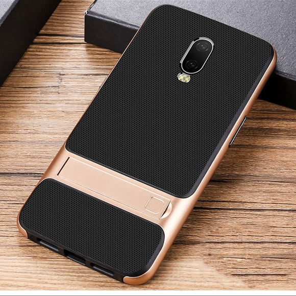 OnePlus 6T Armor Protective Series Back Shell Stand Case