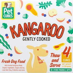 Petcubes Gently Cooked Wild Kangaroo Meat For Dogs