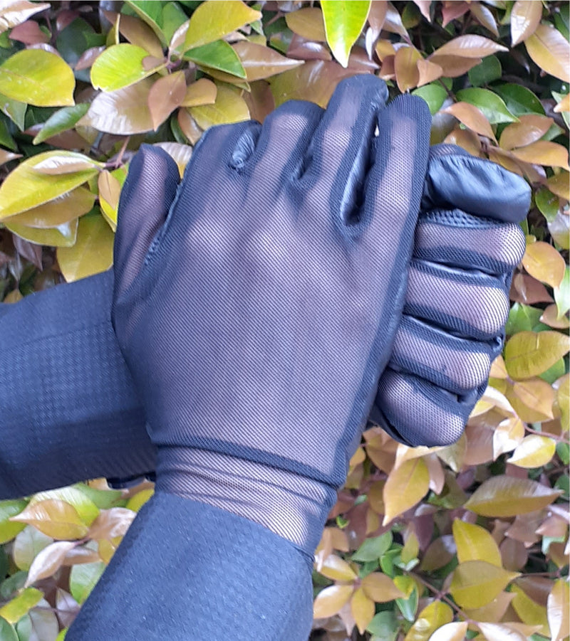 Adult Navy Blue Airmesh Gloves