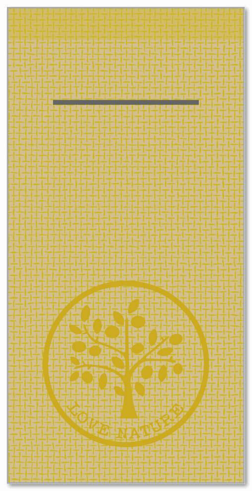Besteckservietten 400x400mm 1/8 Falz, Love Nature/Jute  (naturbraun), 300 St.