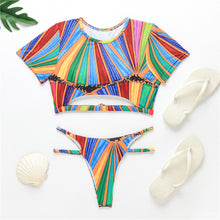 Load image into Gallery viewer, Rainbow Striped Two Piece Set