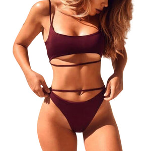 Sexy Under-Boob Two-Piece - (Multiple Colors)