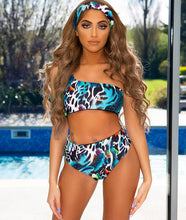 Load image into Gallery viewer, One Shoulder Three Piece Jungle Fever - (Multiple Colors)