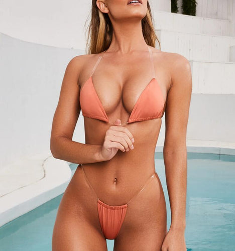 Seamless Triangle Top Bikini - (Multiple Colors available)