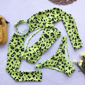 Leopard Print Three-Piece Set