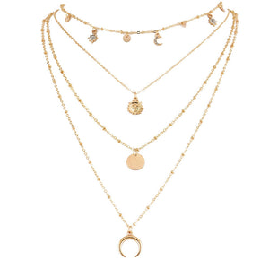 Fashion New Jewelry Moon Sun Stars Flakes Women Necklaces