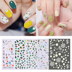 5 styles Nail Art Sticker