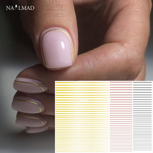 Nail Curve Stripe Sticker