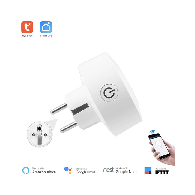 Tuya Smart EU power monitoring WiFi socket wireless plug smart home switch - geex-shop