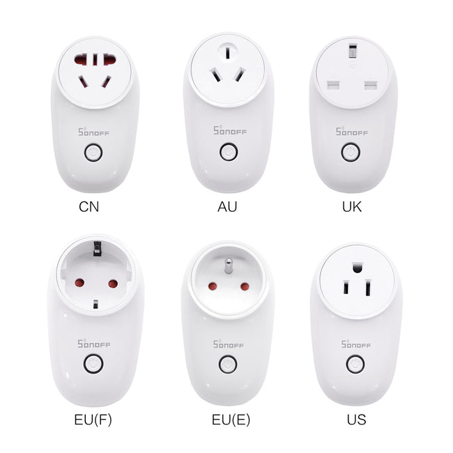 Sonoff S26 WiFi Smart Socket US/EU/UK Wireless Plug Power - geex-shop