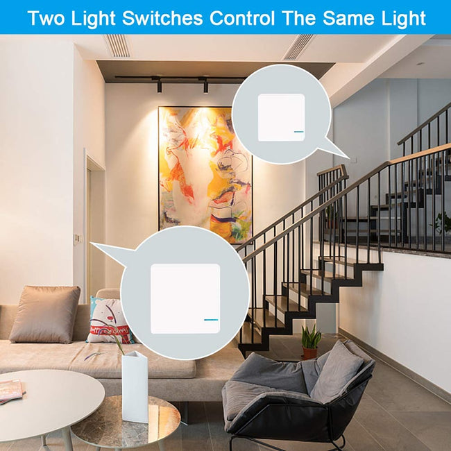 Google Home Mini Compatible WiFi Light Wireless Switch 2 Switch Control 1 Light - geex-shop
