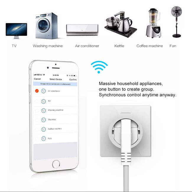 NEO COOLCAM Wifi Smart Plug EU Socket IFTTT Outlet Automation from Security & Protection - geex-shop