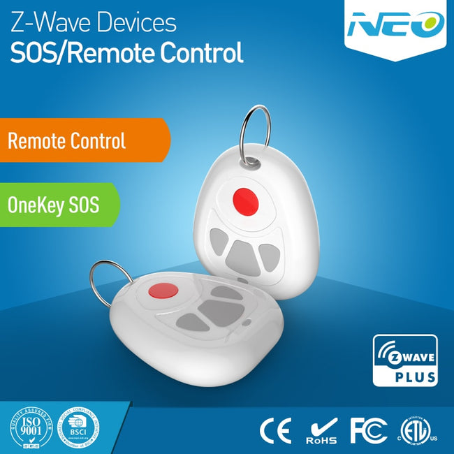 NEO COOLCAM Z-wave Plus Smart Home One Key SOS and Remote Control Sensor - geex-shop