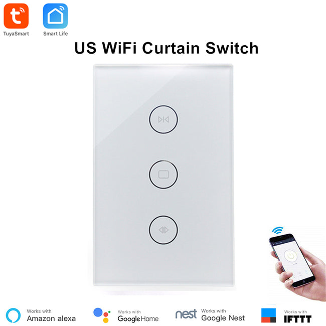 Tuya Smart Life WiFi Curtain Switch for Electric Motorized Curtain Blind Roller Shutter - geex-shop