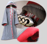 Robe with Opening, Hood, and Sleeves; Custom-Made