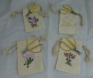Embroidered Bag with Small Craft Scissors