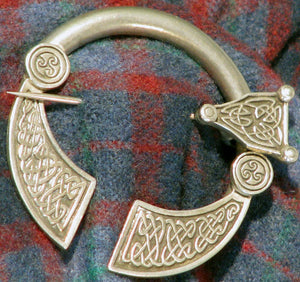 Pewter large Penannular Brooch