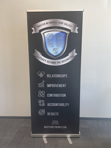 Pop Up Core Value Crest Banner