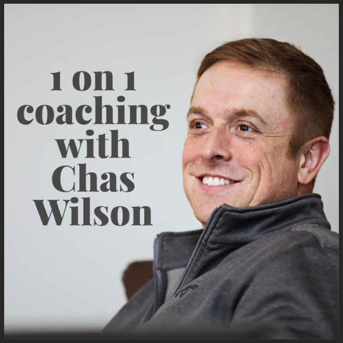 ONE WEEK ONLY SALE! SAVE OVER $4,000! One On One Coaching with Chas Wilson (5 Sessions)