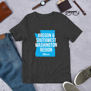 Oregon and Southwest Washington Short-Sleeve Unisex T-Shirt