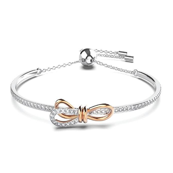 Silver Forget Me Knot Moissanite Bracelet