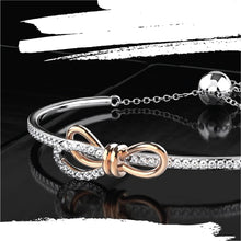 Load image into Gallery viewer, Silver Forget Me Knot Moissanite Bracelet