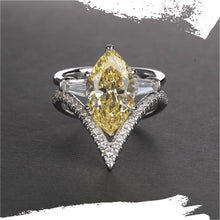 Load image into Gallery viewer, 925 Sterling Silver Marquise Cut Vintage Styled Set - Available in 3 Stone Colors